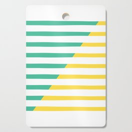 Beach Stripes Green Yellow Cutting Board