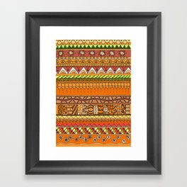 Yzor pattern 012 rich summer Framed Art Print