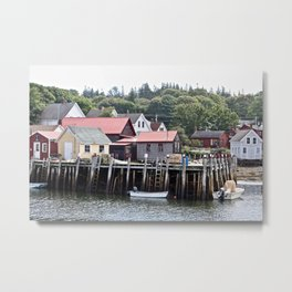 A Town of Fishermen Metal Print