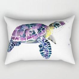 Sea Turtle, purple baby turtle illustration design Rectangular Pillow