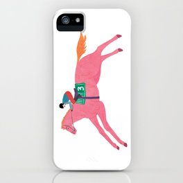 The fastest pink horse run iPhone Case