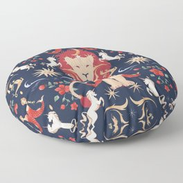 The Medieval Menagerie  Floor Pillow