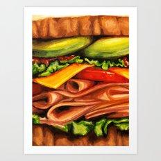 Sandwich- Turkey Bacon Avocado Art Print