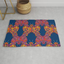 Classic exotic floral butterfly pattern design Rug