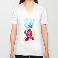 the last airbender V-neck T-shirts featuring Steven Universe x Avatar The Last Airbender by Matereya