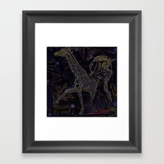 [when we] walk away Framed Art Print