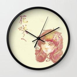 Fille de fleurs Wall Clock