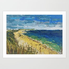 Bournemouth Beach Painting Art Print