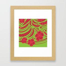 Samoan Polynesian Floral Framed Art Print