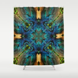 FANTASTIC FEATHERS - PEACOCK Shower Curtain