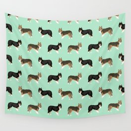 Shetland Sheep Dog pattern custom dog gifts for unique dog breed pet friendly dogs Wall Tapestry