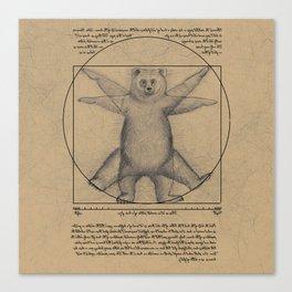 The Vitruvian Bear Canvas Print