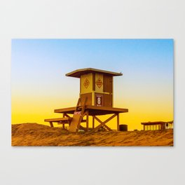 lifeguard tower Canvas Print