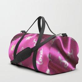 Love,Fun and Joy - Silk,pink Duffle Bag