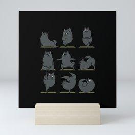 Schipperke Yoga Mini Art Print