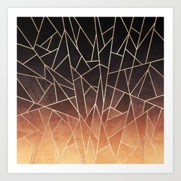 Shattered Ombre Art Print