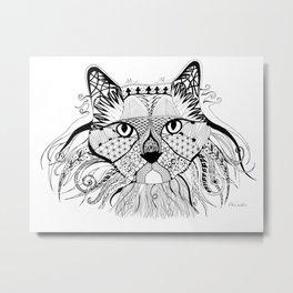 Hunter - The Diva Cat Metal Print