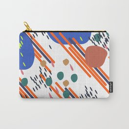Abstract seamless backgrounds memphis style. Universal cards, pastel colors. Retro design Carry-All Pouch