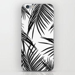 Black Palm Leaves Dream #1 #tropical #decor #art #society6 iPhone Skin