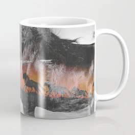 Black Horse Sunset Run Coffee Mug