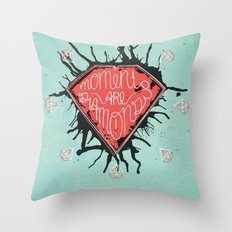Moments are diamonds Throw Pillow