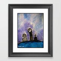 Graveyard Boy Framed Art Print