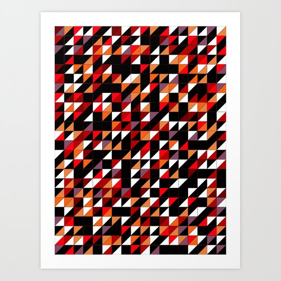Sumi Retro Quilt Art Print
