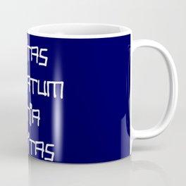 motto in latin -Vanitas vanitatum et omnia vanitas 2 Coffee Mug