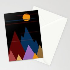 Moon Over The Mountains #3 Stationery Cards