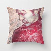 hannibal Throw Pillows featuring Hannibal by András Récze