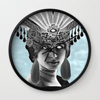 grace Wall Clocks featuring Grace by Thömas McMahon