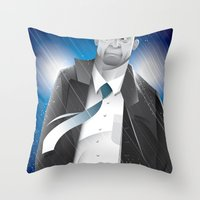 sin city Throw Pillows featuring Sin City-Hartigan by Szoki