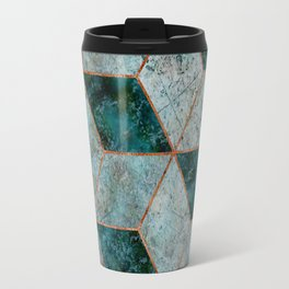 Emerald copper geometric Travel Mug