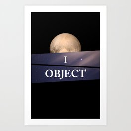 Planet Pluto Art Print