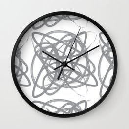 Curvy1Print Grey and White Wall Clock