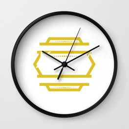 Funny Overthink Tshirt Design Just let it be Wall Clock