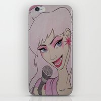 jem iPhone & iPod Skins featuring Jem and the Holograms  by DustyRoseArt