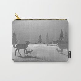 Low Poly Deer Herd - Fawns Carry-All Pouch