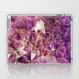Gleaming Purple Geode Crystals Laptop & iPad Skin