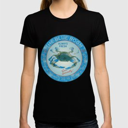Retro Vintage Advertising Inspired Seafood Ad for Blue Crabs T-shirt