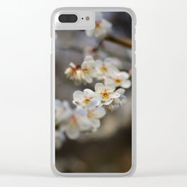 Korean Plum Blossoms Clear iPhone Case
