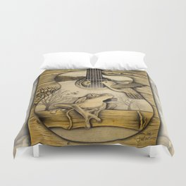 Porch Song Drawing Duvet Cover
