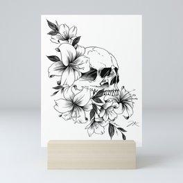 Skull Lilies Mini Art Print