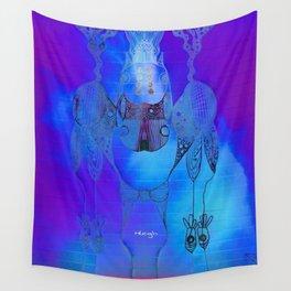 Tie Dye Scribble Wall Tapestry