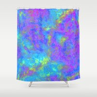 psychedelic Shower Curtains featuring Psychedelic by Tals