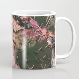 Pink Winter Cacti in Palo Duro Canyon, Texas Coffee Mug