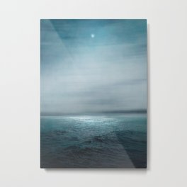 Sea Under Moonlight Metal Print
