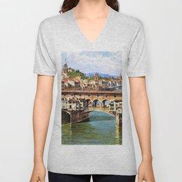 Ponte Vecchio To Florence - Digital Remastered Edition Unisex V-Neck