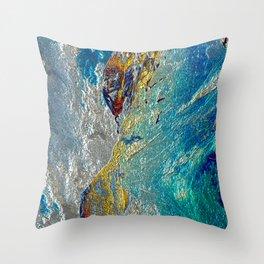 Stunning metal Fantasy Throw Pillow