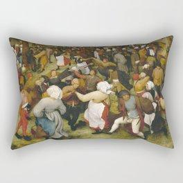 Pieter Bruegel I - The Wedding Dance Rectangular Pillow